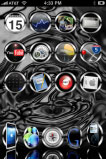 iPhone theme - Black Chrome