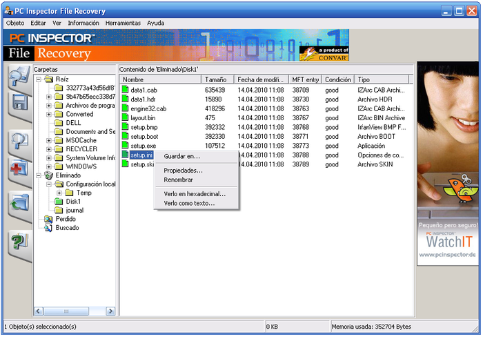 Free Data Recovery Software - PC INSPECTOR File Recovery