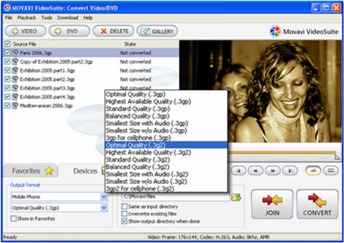 Convert video and DVD to PDA and cell phone